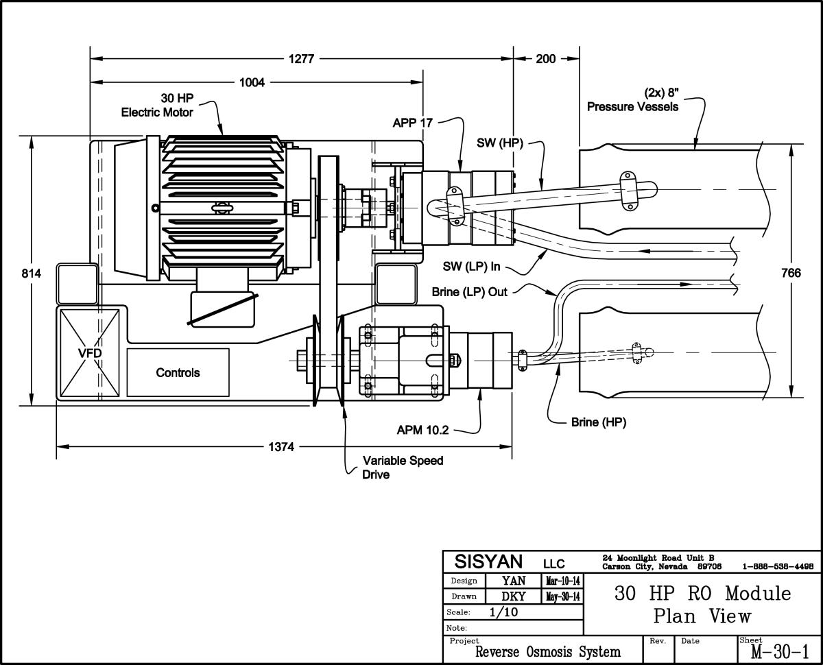 Sisyan M-30 Photovoltaic Seawater Reverse Osmosis Module