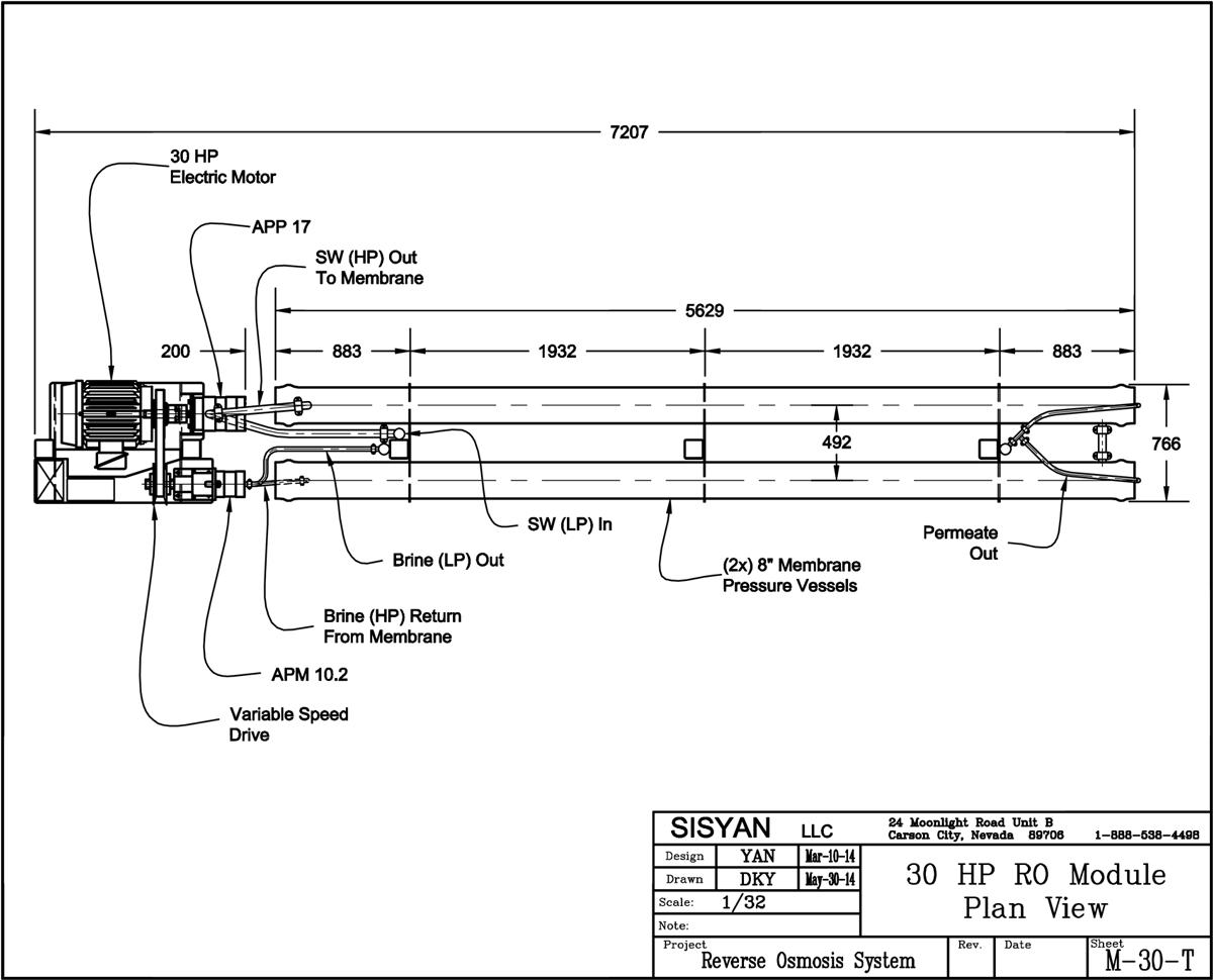 Seawater Reverse Osmosis (SWRO) Module